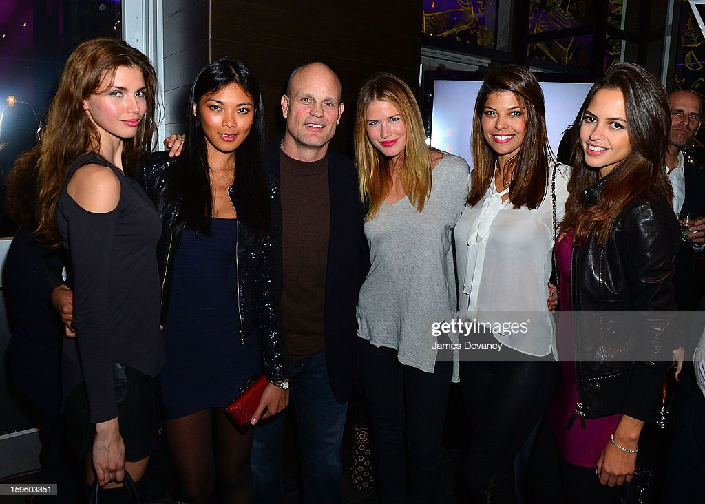 Alejandra Cata, Meki Saldana, guest, Annmarie Nitti, Annalu Campos and Karla Azevedo attend MSG Networks' 2013 NHL Hockey Season Celebration at Toy Restaurant on January 16, 2013 in New York City.