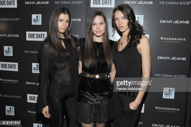 Alejandra Cata Thea Carley Melody Candil and attend THE CINEMA SOCIETY DKNY JEANS host a screening of 'DUE DATE' at Lavo on November 1 2010 in New...