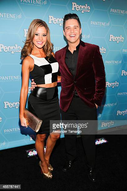Alejandra Chaban and Alejandro Chaban arrive at the Estrellas Del Ano De People En Espanol party at The James Royal Palm Hotel on December 12 2013 in...