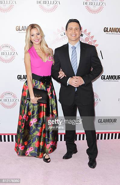 Alejandra Chaban and Alejandro Chaban attend the Glamour Beauty Awards Latin America 2016 at Palmeira Beach Club on February 24 2016 in Miami Florida