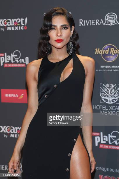 Alejandra Espinosa attends the red carpet of the Premios Platino 2019 at Occidental Xcaret Hotel on May 12 2019 in Playa del Carmen Mexico