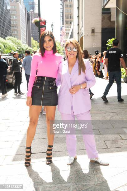 Alejandra Espinoza and Olga Tanon attend Univision's Reina de la Cancion Auditions at Westin Grand Central on June 15 2019 in New York City