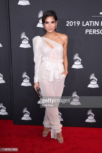 Alejandra Espinoza attends the Latin Recording Academy's 2019 Person of the Year gala honoring Juanes at the Premier Ballroom at MGM Grand Hotel...