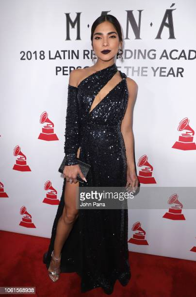 Alejandra Espinoza attends the Person of the Year Gala honoring Mana during the 19th annual Latin GRAMMY Awards at the Mandalay Bay Events Center on...