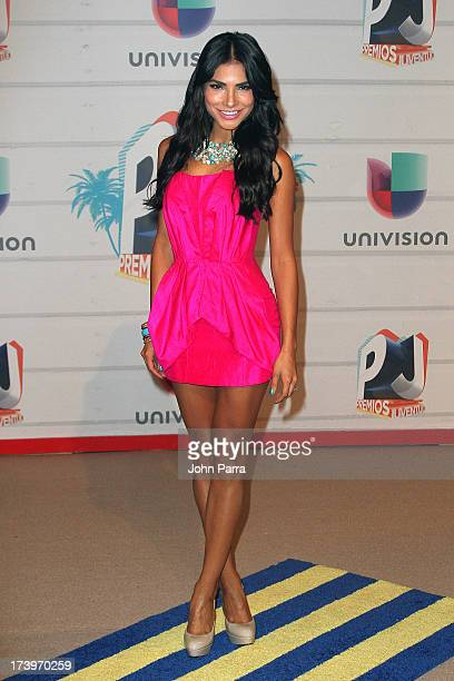 Alejandra Espinoza attends the Premios Juventud 2013 at Bank United Center on July 18 2013 in Miami Florida