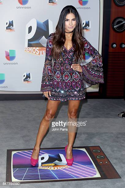 Alejandra Espinoza attends the Univision's 13th Edition Of Premios Juventud Youth Awards at Bank United Center on July 14 2016 in Miami Florida