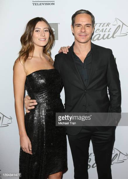 Alejandra Guilmant and Tony Dalton attend the Los Angeles premiere of AMC's Better Call Saul Season 5 held at ArcLight Cinemas on February 05 2020 in...