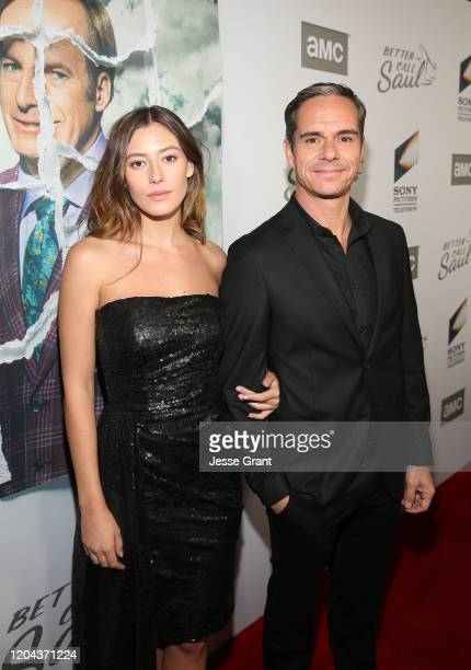 Alejandra Guilmant and Tony Dalton attend the Premiere of AMC's Better Call Saul Season 5 on February 05 2020 in Los Angeles California