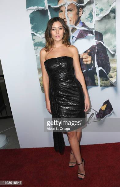 Alejandra Guilmant arrives for the Premiere Of AMC's Better Call Saul Season 5 held at ArcLight Cinemas on February 5 2020 in Hollywood California
