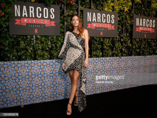 "Alejandra Guilmant attends a special screening of ""NARCOS: MEXICO"" Season 2 presented by Netflix at Netflix Offices on February 06, 2020 in Los..."