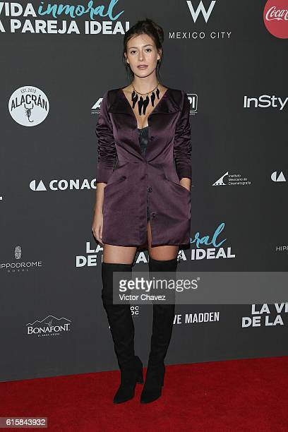 Alejandra Guilmant attends La Vida Inmoral De La Pareja Ideal Mexico City premiere at Teatro Metropolitan on October 19 2016 in Mexico City Mexico