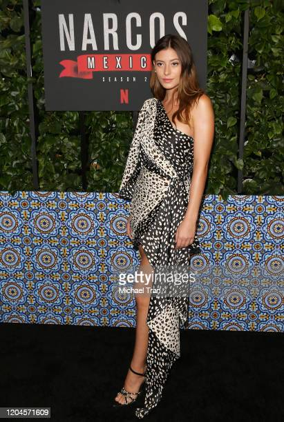 Alejandra Guilmant attends the Los Angeles premiere of Netflix's Narcos Mexico Season 2 held at Netflix Home Theater on February 06 2020 in Los...