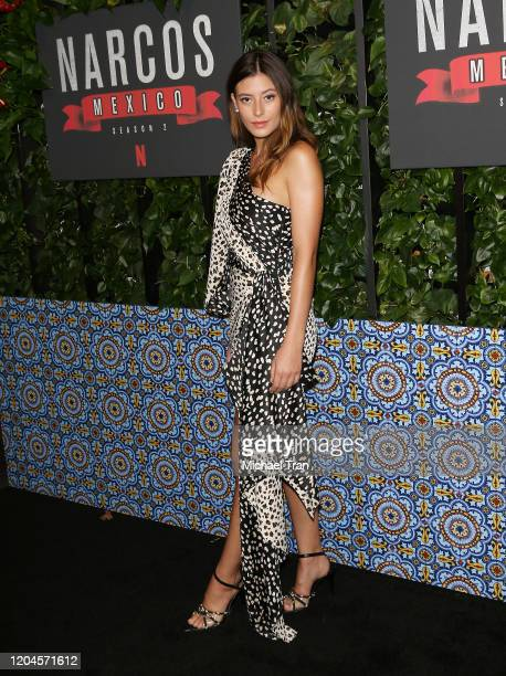 "Alejandra Guilmant attends the Los Angeles premiere of Netflix's ""Narcos: Mexico"" Season 2 held at Netflix Home Theater on February 06, 2020 in Los..."