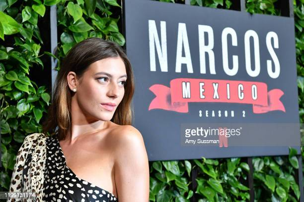 "Alejandra Guilmant attends the premiere of Netflix's ""Narcos: Mexico"" Season 2 at Netflix Home Theater on February 6, 2020 in Los Angeles, California."