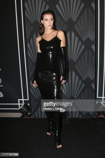 Alejandra Guilmant poses for photos during the Black Carpet of the 'GQ Hombres del Año 2019' at Fronton Mexico on September 25 2019 in Mexico City...