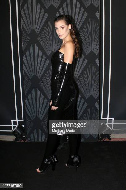 Alejandra Guilmant poses for photos during the Black Carpet of the 'GQ Hombres del Año 2019' at Fronton Mexico on September 25, 2019 in Mexico City,...