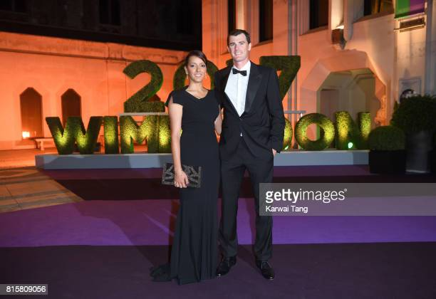 Alejandra Gutierrez and Jamie Murray attend the Wimbledon Winners Dinner at The Guildhall on July 16 2017 in London England