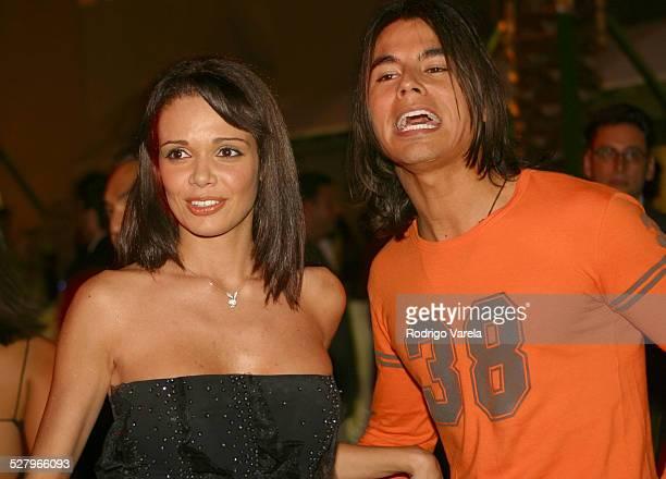 Alejandra Gutierrez and Julio Iglesias Jr during Ocean Drive Magazine's 10th Anniversary Party at Eden Roc Resort Spa in Miami Beach FL United States