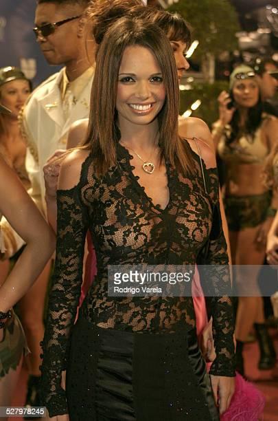 Alejandra Gutierrez during 2004 Premio Lo Nuestro Arrivals at Miami Arena in Miami Florida United States