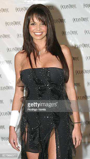 Alejandra Gutierrez during Ocean Drive Magazine's 10th Anniversary Party at Eden Roc Resort Spa in Miami Beach FL United States