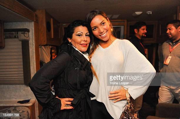 Alejandra Guzman and Frida Sofia attend the Latin GRAMMY Street Parties 2012 San Jose on October 28 2012 in San Francisco California