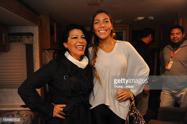 Alejandra Guzman and Frida Sofia attends the Latin GRAMMY Street Parties 2012 San Jose on October 28 2012 in San Francisco California