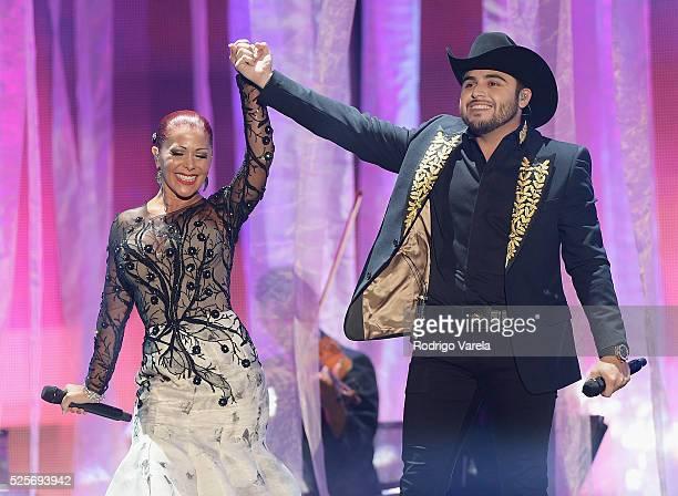 Alejandra Guzman and Gerardo Ortiz perform onstage at the Billboard Latin Music Awards at Bank United Center on April 28, 2016 in Miami, Florida.