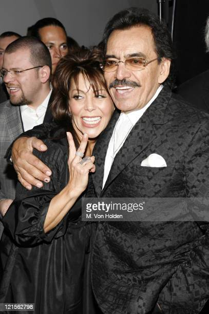 Alejandra Guzman and Joan Sebastian during 15th Annual ASCAP Latin Music Awards Cocktail Reception at Nokia Theatre in New York City New York United...