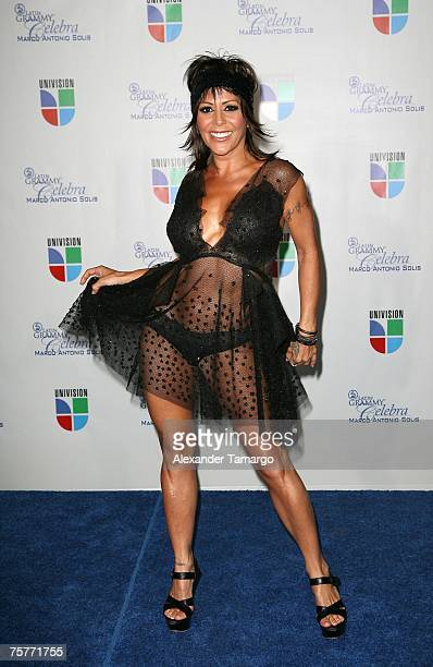 Alejandra Guzman appears backstage during the Latin Grammy tribute concert to Marco Antonio Solis at the Bank United Center on July 26 2007 in Coral...