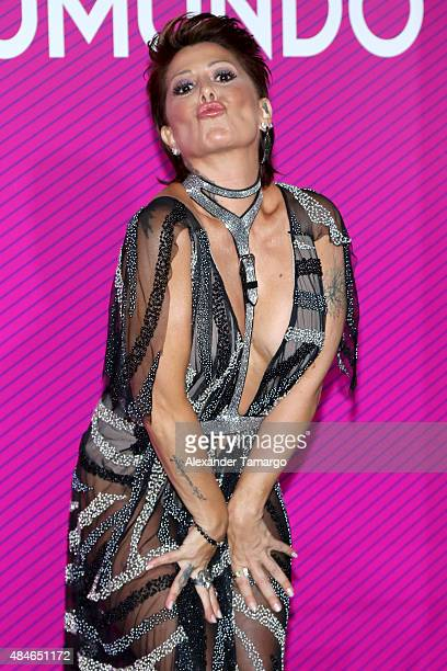 Alejandra Guzman arrives at Telemundo's 'Premios Tu Mundo Awards' at American Airlines Arena on August 20 2015 in Miami Florida