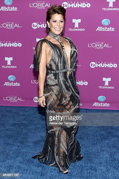 Alejandra Guzman arrives at Telemundo's Premios Tu Mundo Awards at American Airlines Arena on August 20 2015 in Miami Florida