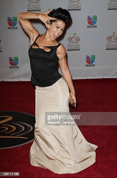 Alejandra Guzman arrives at Univision's Premio Lo Nuestro a La Musica Latina at American Airlines Arena on February 16, 2012 in Miami, Florida.
