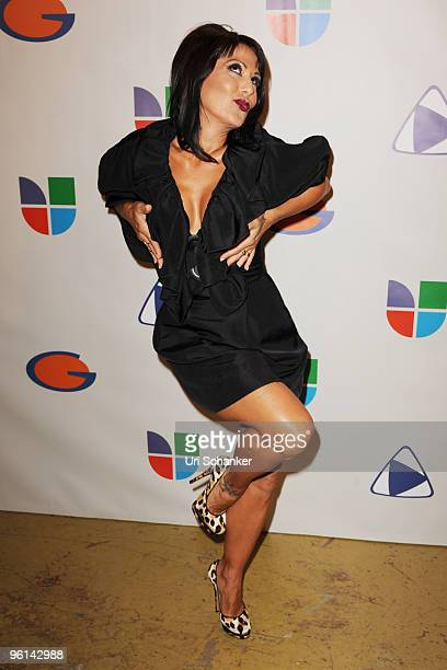 "Alejandra Guzman arrives at Univision's ""Unidos Por Hait?"" event through the American Red Cross on January 23, 2010 in Miami, Florida."