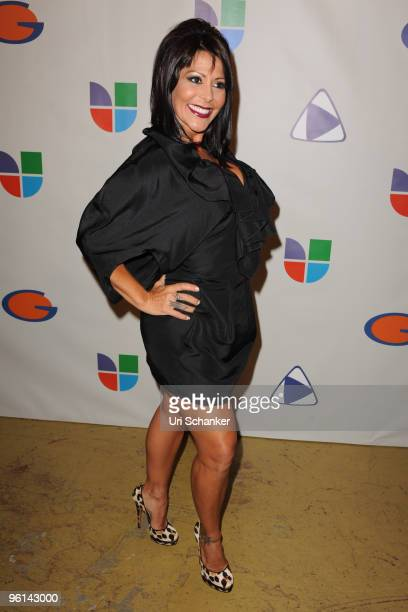 Alejandra Guzman arrives at Univision's 'Unidos Por Hait' event through the American Red Cross on January 23 2010 in Miami Florida