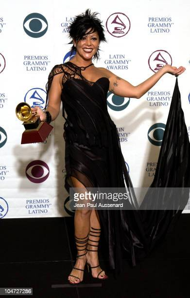Alejandra Guzman during 3rd Annual Latin GRAMMY Awards Press Room at Kodak Theatre in Hollywood California United States