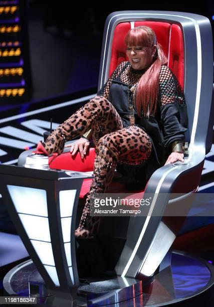 "Alejandra Guzman is seen during Telemundo's ""La Voz"" blind auditions Week 3 at Cisneros Studios on February 2, 2020 in Miami, Florida."