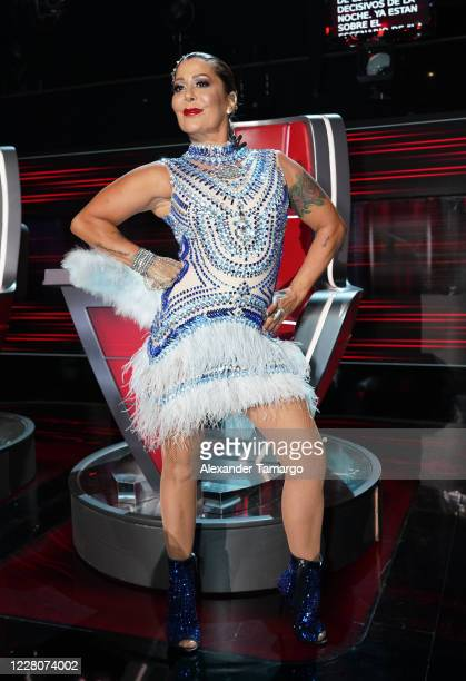 "Alejandra Guzman is seen during Telemundo's ""La Voz"" season 2 finale at Cisneros Studios on August 16, 2020 in Miami, Florida."