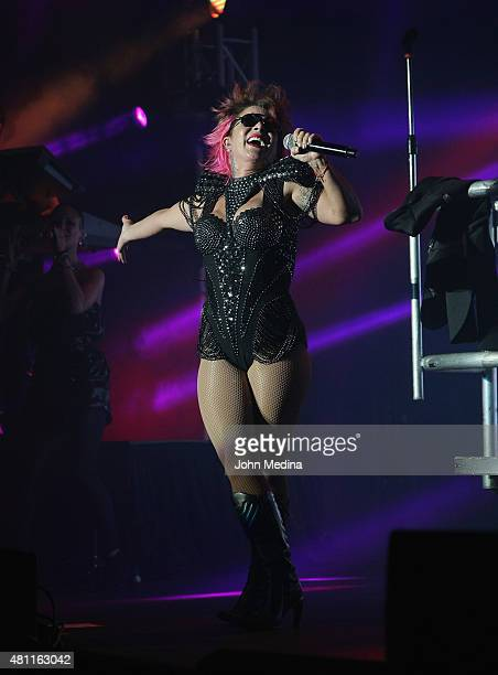 Alejandra Guzman performs at City National Civic on July 17 2015 in San Jose California