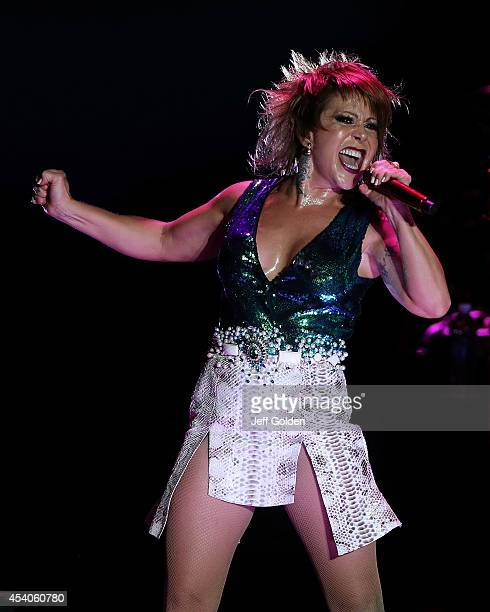Alejandra Guzman performs at The Greek Theatre on August 23, 2014 in Los Angeles, California.