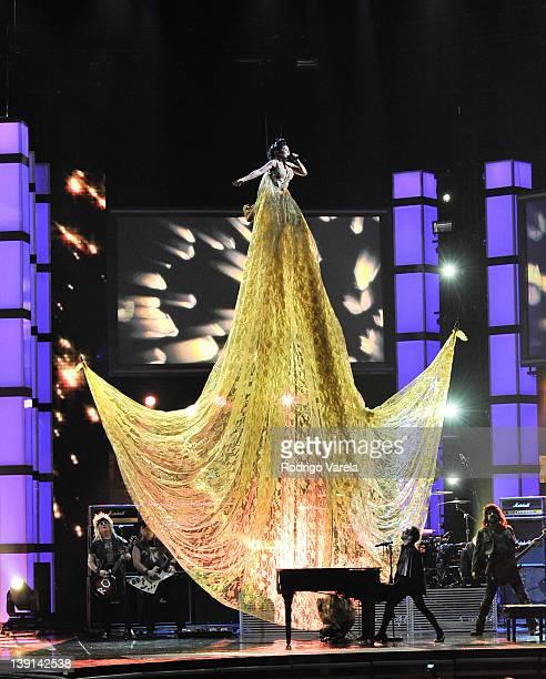Alejandra Guzman performs at the Premio Lo Nuestro a La Musica Latina at American Airlines Arena on February 16, 2012 in Miami, Florida.