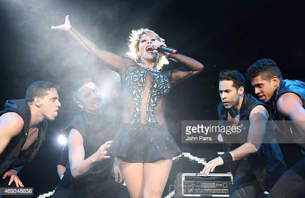 Alejandra Guzman performs during El Nuevo Zol 106.7 Miami Bash 2015 at American Airlines Arena on April 10, 2015 in Miami, Florida.