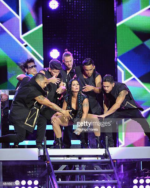 Alejandra Guzman performs onstage at Telemundo's Premios Tu Mundo Awards 2015 at American Airlines Arena on August 20 2015 in Miami Florida