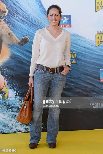 Alejandra Martos attends the 'Bob Esponja' Premiere at Kinepolis Cinema on January 31 2015 in Madrid Spain
