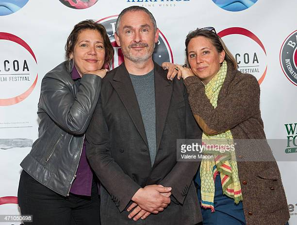 Alejandra Norambuena Skira Francois Truffart and Anouchka Van Riel arrive at COLCOA French Film Festival Barnes After Party at Heritage Fine Wines on...