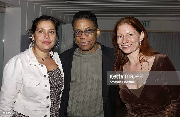 Alejandra NorambuenaSkira of SACEM musician Herbie Hancock and Festival Programmer Claudia Durgnat attend the post screening party for the 9th Annual...