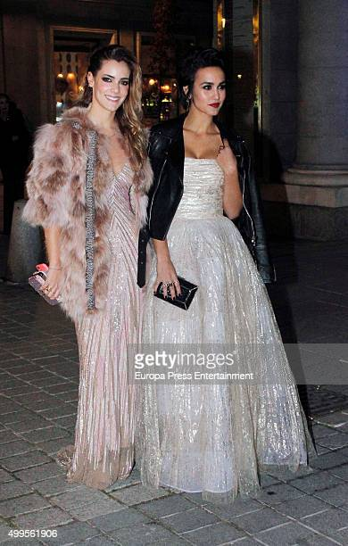 Alejandra Onieva and Megan Montaner attend XXV Telva Fashion Awards 2015 at the Royal Theatre on December 1 2015 in Madrid Spain