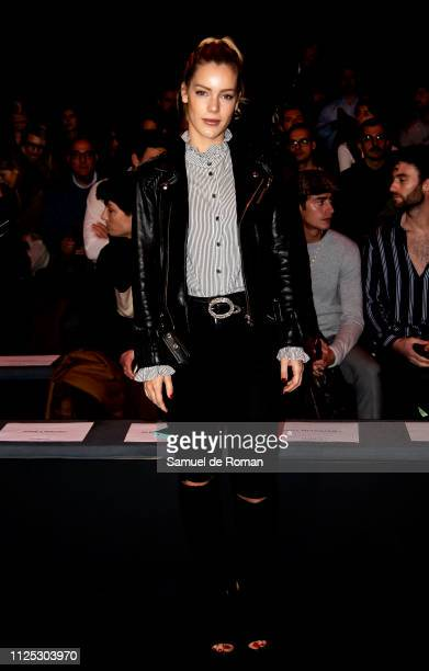 Alejandra Onieva attends the Duarte fashion show during the Mercedes Benz Fashion Week Autumn/Winter 20192020 at Ifema on January 27 2019 in Madrid...