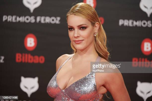 Alejandra Onieva attends the Feroz Awards 2019 Red Carpet at Bilbao Arena in Bilbao Spain on Jan 19 2019