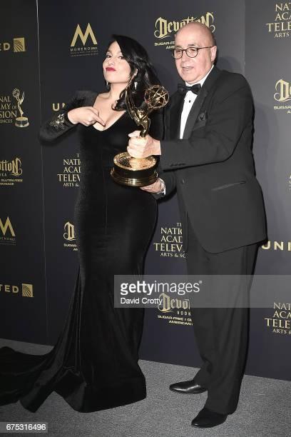 Alejandra Oraa and Eduardo Suarez attend the 44th Annual Daytime Emmy Awards Press Room at Pasadena Civic Auditorium on April 30 2017 in Pasadena...