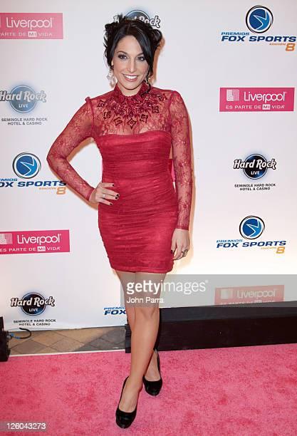 Alejandra Oraa arrives at the 8th Annual Premios Fox Sports Awards at Seminole Hard Rock Hotel on December 14 2010 in Hollywood Florida
